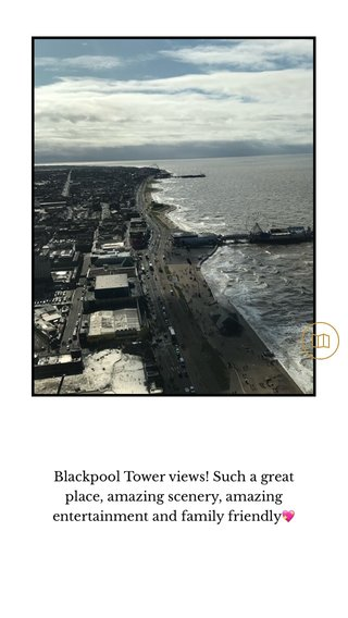 Blackpool Tower views! Such a great place, amazing scenery, amazing entertainment and family friendly💖