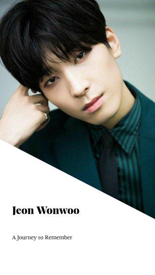 Jeon Wonwoo A Journey to Remember