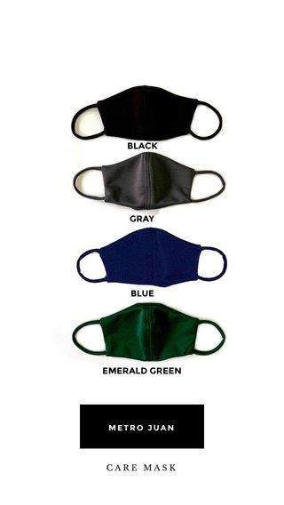 EMERALD GREEN BLUE GRAY BLACK METRO JUAN CARE MASK