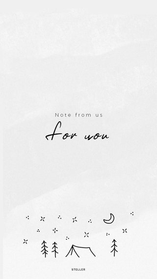 For you Note from us