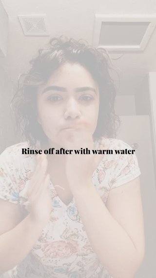Rinse off after with warm water