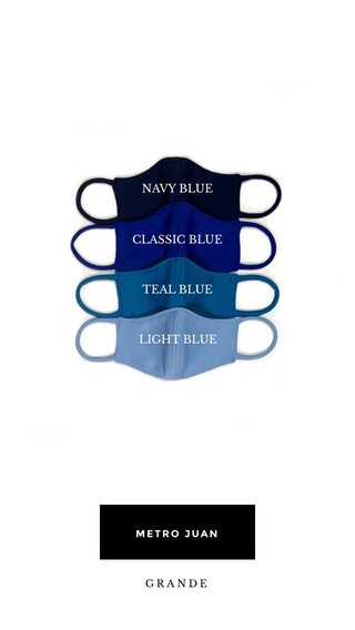 NAVY BLUE CLASSIC BLUE TEAL BLUE LIGHT BLUE METRO JUAN GRANDE