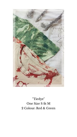 """""""Tiedye"""" One Size S fit M 2 Colour: Red & Green"""