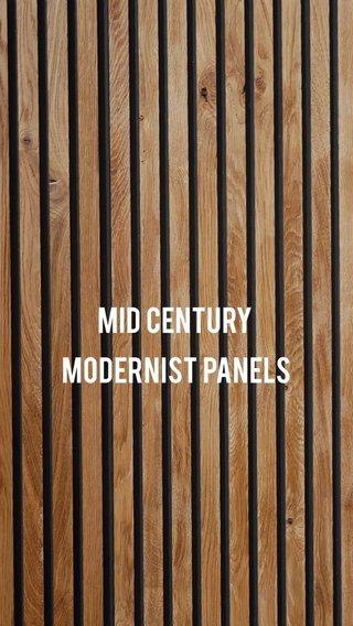 Mid century modernist panels