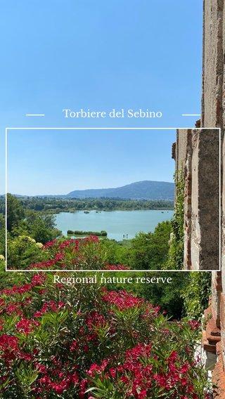 Regional nature reserve Torbiere del Sebino