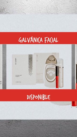 Disponible Galvánica Facial