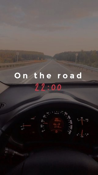 22:00 On the road