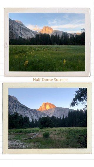 Half Dome Sunsets
