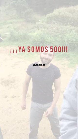 ¡¡¡Ya somos 500!!! ¡Gracias!