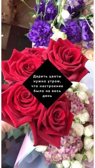 Дарить цветы нужно утром, что настроение было на весь день