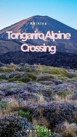 Tongariro Alpine Crossing March 2018 #Hiking