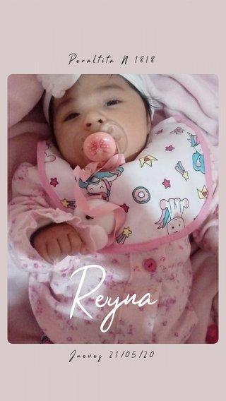 Reyna Peraltita N 1818 Jueves 21/05/20