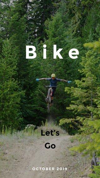 Bike Let's Go OCTOBER 2019