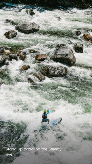 Stand up paddling the Selway river