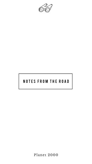 Notes from the road Planet 2000