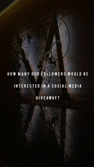 How many our followers would be interested in a social media giveaway?