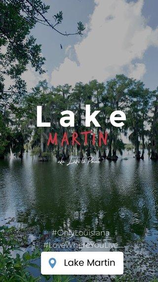 Lake Martin #OnlyLouisiana #LoveWhereYouLive OCTOBER 2019 aka Lake la Pointe