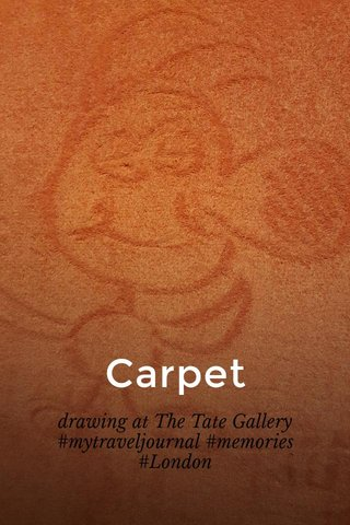 Carpet drawing at The Tate Gallery #mytraveljournal #memories #London