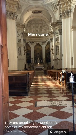 Morricone They are practicing on Morricone's notes at my hometown church #shareyourworld
