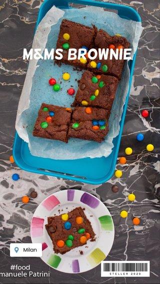 M&Ms Brownie #food