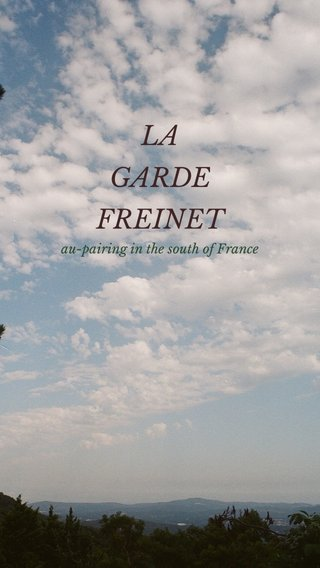 LA GARDE FREINET au-pairing in the south of France