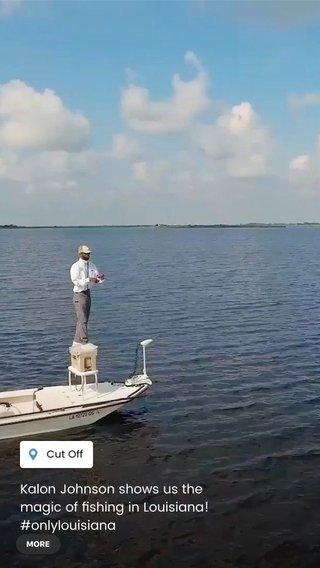 Kalon Johnson shows us the magic of fishing in Louisiana! #onlylouisiana #lovewhereyoulivelouisiana