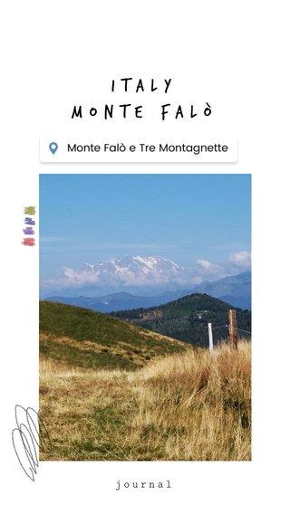 Italy Monte Falò journal