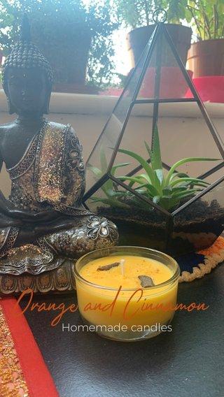 Orange and Cinnamon Homemade candles