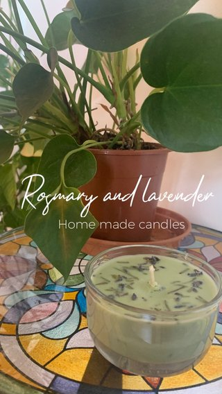 Rosmary and lavender Home made candles