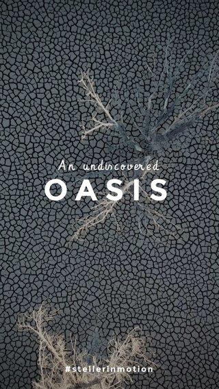 OASIS An undiscovered #stellerinmotion
