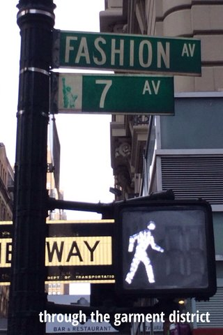 through the garment district