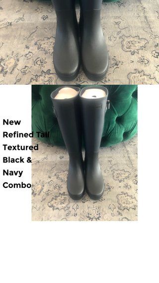 New Refined Tall Textured Black & Navy Combo