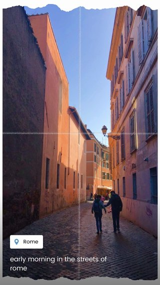early morning in the streets of rome