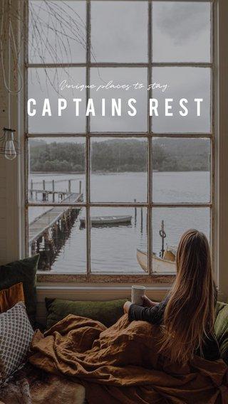 CAPTAINS REST Unique places to stay
