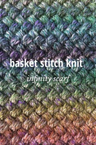 basket stitch knit infinity scarf