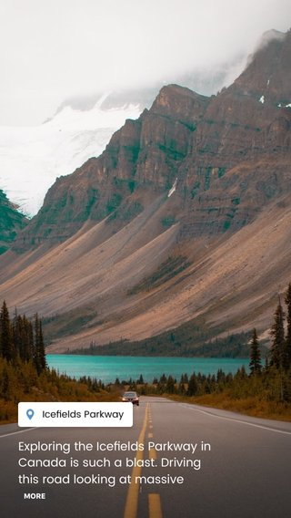 Exploring the Icefields Parkway in Canada is such a blast. Driving this road looking at massive glaciers, towering mountains, turquoise colored lakes and more. Probably the most exciting part was seeing a family of grizzly bears cross the road ! #wilderness #roadtrip #canada #beautifuldestinations #earthpix #artofvisuals #earth #wonderful_places #travel #adventure