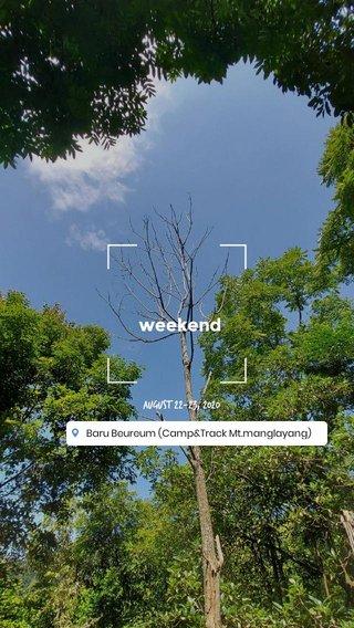 weekend August 22-23, 2020