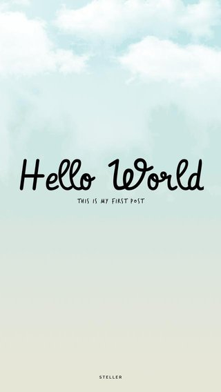 Hello World This is my first post