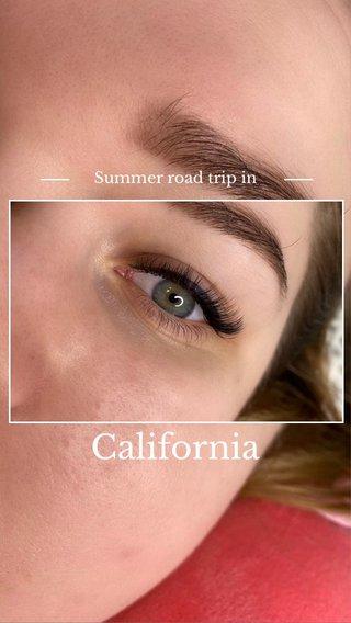 California Summer road trip in