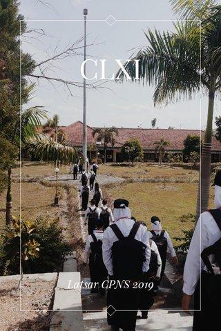 CLXI Latsar CPNS 2019