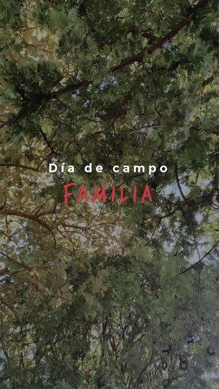 Familia Día de campo