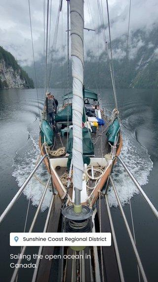 Sailing the open ocean in Canada.