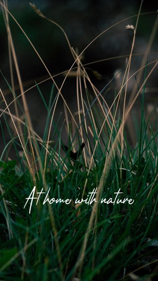 At home with nature