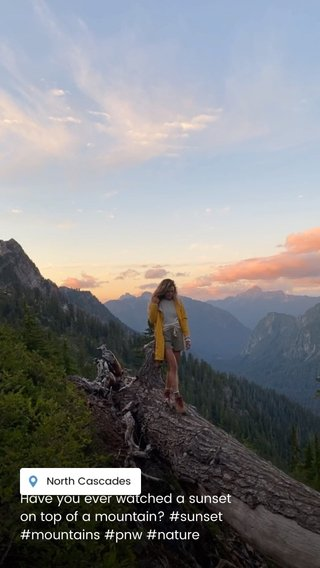 Have you ever watched a sunset on top of a mountain? #sunset #mountains #pnw #nature
