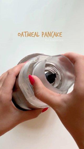 Oatmeal pancake for breakfast