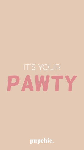 PAWTY IT'S YOUR