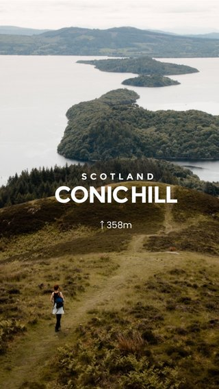 CONIC HILL SCOTLAND ↑358m