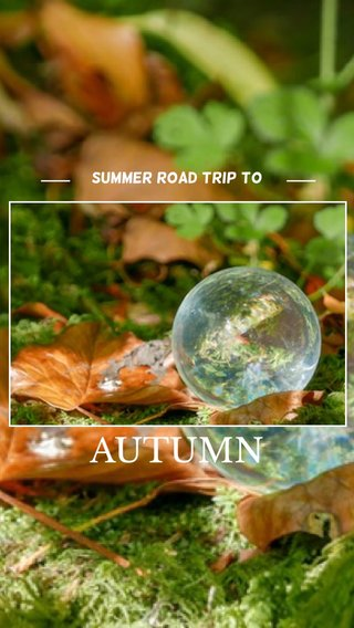 AUTUMN Summer road trip to