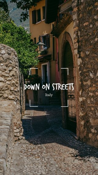 Down On Streets Italy