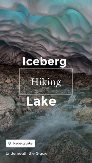 Lake Iceberg Hiking Underneath the Glacier